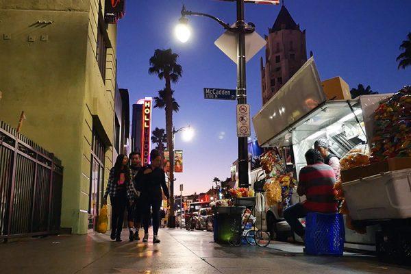 Hollywood Bvd vendeur ambulant