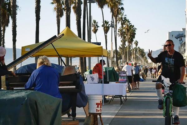 Venice Beach boardwalk scène de rue